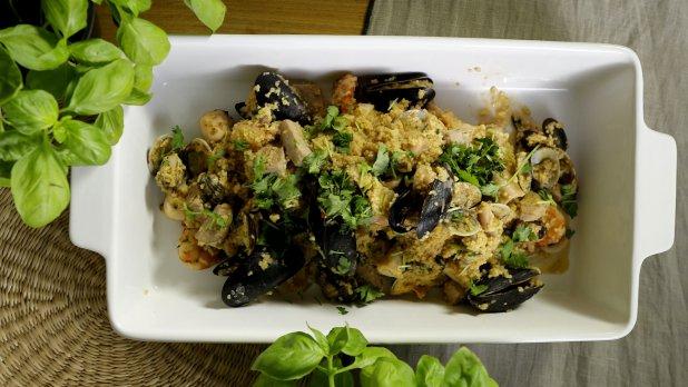 Sicilský kuskus s mořskými plody