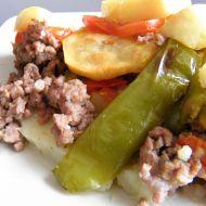 Zapečené hovězí maso s bramborem a zeleninou recept