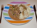 Vepřové maso na žampionech s rýží recept