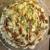 Zapečené brambory s kuřecím masem recept