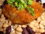 Vepřová pečeně s ostrými fazolkami recept