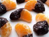 Mandarinky v hořké čokoládě s mořskou solí recept