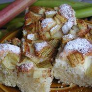 Litý rebarborový koláč recept