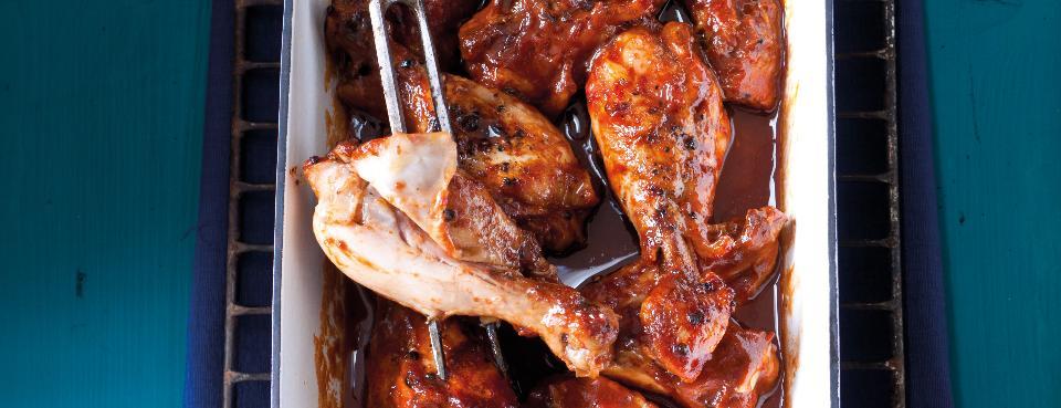 Pomalu pečené kuřecí paličky