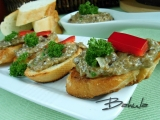 Bruschetta s hříbkovou pomazánkou recept