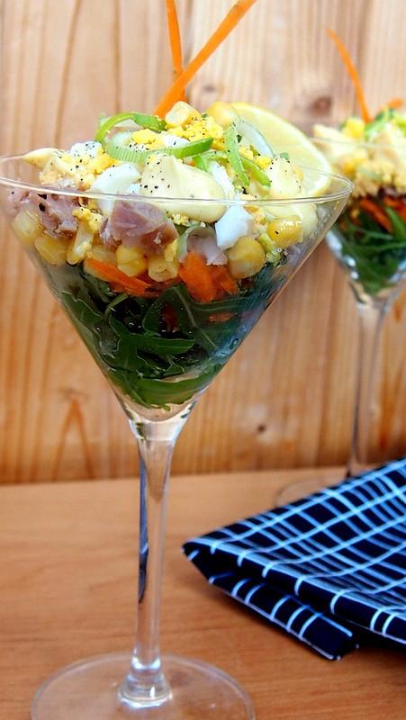 Tuňákový salát ve skle recept