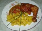 Uzené kuřecí stehno s česnekem a paprikou recept