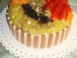 Ovocný dort s tvarohem recept