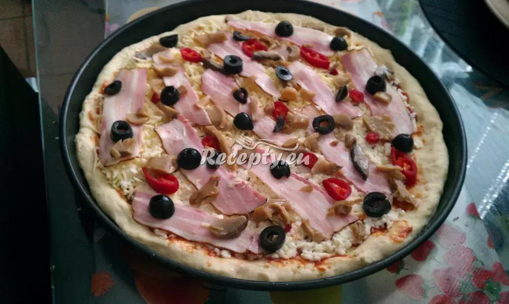 Italská pizza recept  pizza