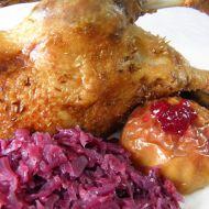 Kachna s brusinkovým zelím recept