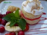 Palačinkový komínek s jogurtem a ovocem recept