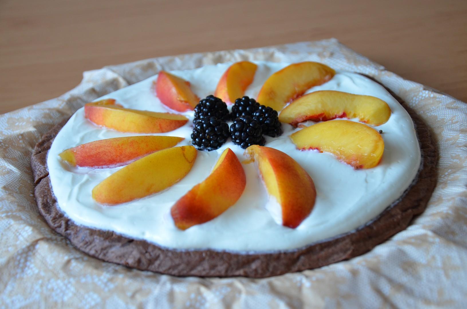 Fitness kakaový dortík s tvarohem recept
