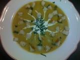 Dýňová polévka s chilli krutony recept
