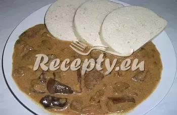 Guláš z hlívy ústřičné recept  houbové pokrmy