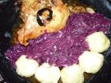 Kuře s bramb. knedlíkem a červeným zelím recept