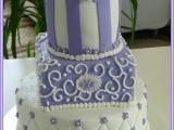 Svatební dort fialovobílý recept
