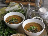 Dýňová polévka s černými fazolemi recept