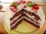 Jahodovo-kakaový dortík recept