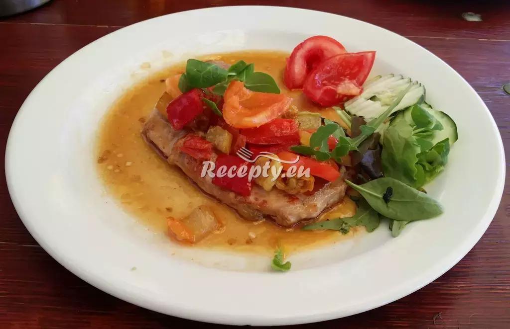 Pečené vepřové plátky recept  vepřové maso