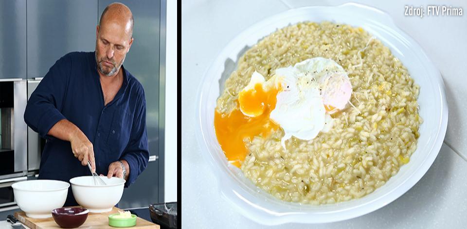 Pórkové rizoto s pošírovaným vejcem podle Zdeňka Pohlreicha