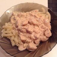 Těstoviny se smetanovo-sýrovou omáčkou a kuřecím masem recept ...