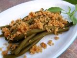 Zelené fazolové lusky se strouhankou recept