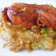 Pečené uzené kuřecí stehno s čočkovým pyré recept