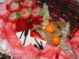 Jahodovo-šlehačkový dort recept