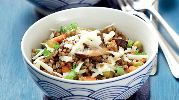 Pohankové rizoto s houbami