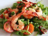 Rukolový salát s garnelami a rajčaty recept