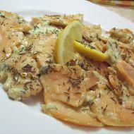 Losos s wasabi a česnekem recept