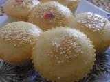 Malinové muffiny s citronovou polevou recept