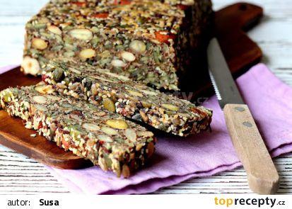 Semínko-ořechový chlebíček bez mouky recept