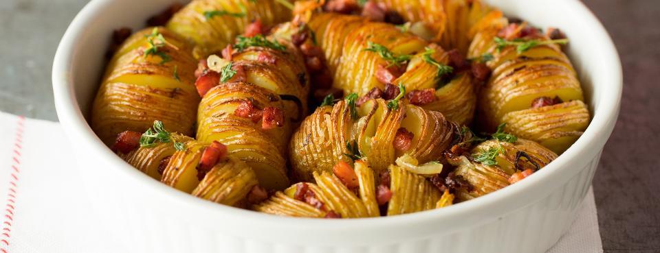 Zapečené bramborové plátky