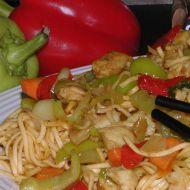 Smažené čínské nudle recept