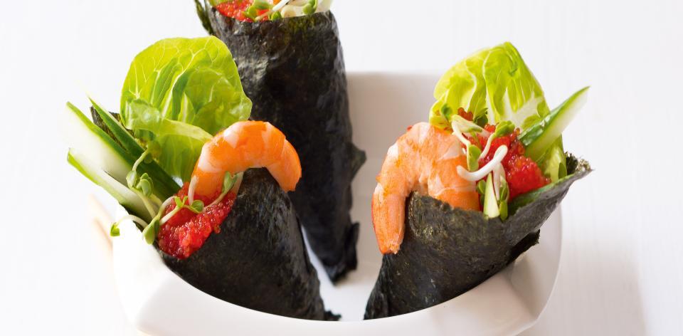 Domácí temaki sushi