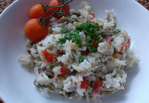 Houbové rizoto po provensálsku