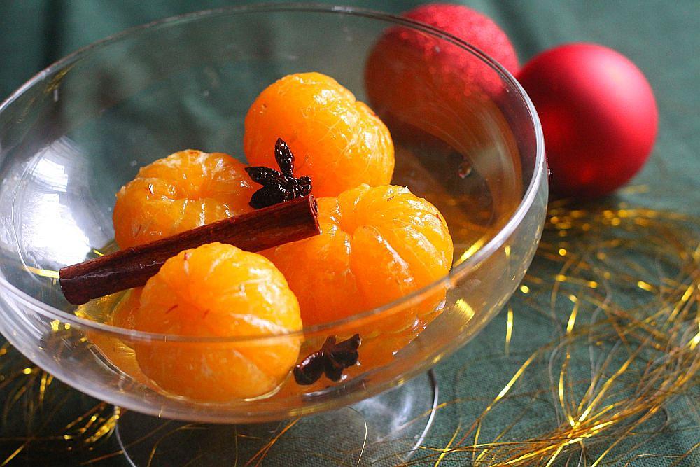 Novoroční kořeněné mandarinky recept