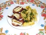 Vepřová krkovice s hermelínem recept