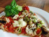 Cuketovomandlová pizza bez mouky recept
