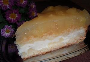 Drobenkový koláč (řez, dort) s ovocným želé  bez vajec  Recepty ...
