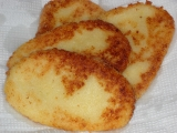 Bramborové placky z kaše s tvarohem recept