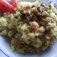 Smetanové rizoto s kuřecím masem a zeleninou recept