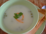 Krémová květáková polévka s hráškem recept