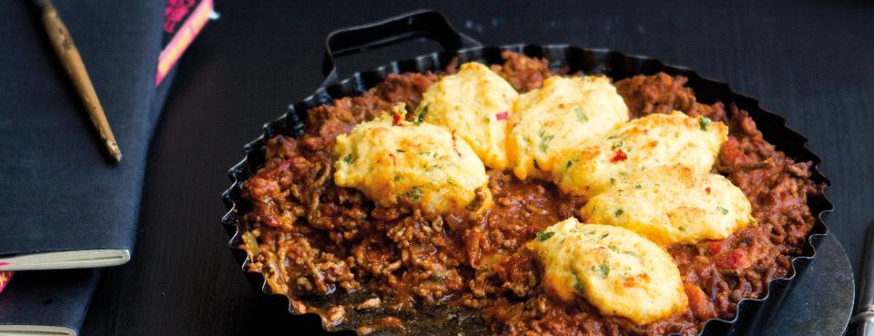 Chili con carne s polentovými knedlíčky