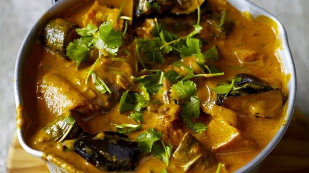 Zapečené zeleninové curry