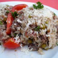 Houbové rizoto s kuřecími játry recept