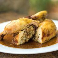 Pečené kuře s chutnou nádivkou recept