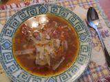 Polévka s mletým hovězím masem a fazolemi recept