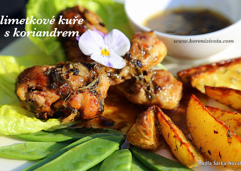 Limetkové kuře s koriandrem recept